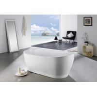 4 Foot Short Free Standing Bathtub , White Narrow Oval Freestanding Tub Manufactures