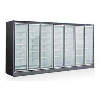 110V 4000L 5 Glass Door Display Freezer For Ice Cream Silver Color Manufactures