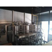 Cheap 30 BBL Beer Brewing Equipment , Three Vessles Steam Heated Brewhouse for sale
