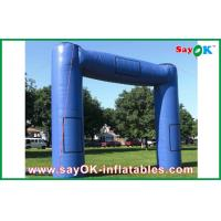 China Blue Huge Inflatable Archway Oxford Fabric Commercial Inflatable Structure on sale