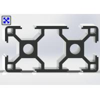 60 * 30 Sliver Anodized T Slot Aluminum Profile With Two 6.8mm Holes Manufactures