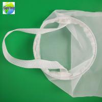 Food Grade Soy Milk Filter Bag Nylon Material Customized Size 20 - 300 Mesh Manufactures