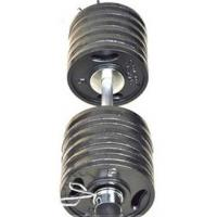 Buy cheap Double Grip Handles Cast Iron Barbell / Olympic Barbell Set Customized Color from wholesalers