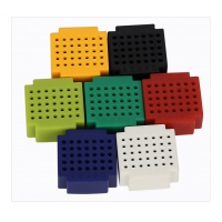 Plastic Colored Round Hole Breadboard With 25 / 35 / 45 Tie - Point Manufactures