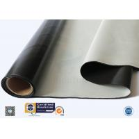 Custom Black Silicone Coated Fiberglass Fabric Heat Protection High Strength Manufactures