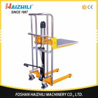 China Load capacity 400kg hydraulic portable manual hand stacker forklift on sale