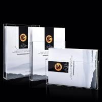 OEM Acrylic Brochure Holders ,  Wall Mounted Plastic 1/3 A4 Leaflet Holder Manufactures