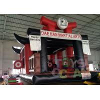 China Customized Ninja Warrior Commercial Grade Bounce House With Happy Birthday Banner on sale