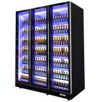 Black Body Commercial Upright Freezer Beverage Refrigerator With Five Layer Shelves Manufactures