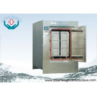 Automatic Hinge Door Medical Waste Autoclave Steam Sterilizer With Touch Screen PLC System