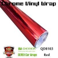 Chrome Mirror Car Wrapping Vinyl Film 3 layers - Chrome Red Manufactures