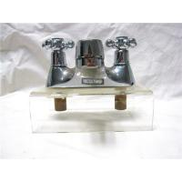 Cheap Chrome Plated Kitchen Pull Out Faucet / 2 Hole Kitchen Taps For Hot & Cold Water for sale