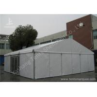 Aluminum Alloy Framed Heavy Duty Event Tents With Glass Door and Fabric Cover Manufactures