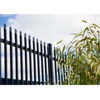press point spear powder coated satin black steel fence 2100mm x 2400mm Manufactures