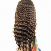 Human Hair Full Lace Wig, Available in Various Colors, Made of 100% Indian Remy Hair Manufactures