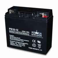 Sealed Lead-acid Battery with 12V Voltage and 18Ah Nominal Capacity, Measures 181 x 77 x 167mm Manufactures