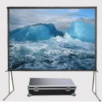 Quality 150 Inch 4:3 Fast Folding Front Projector Projection Screen Floor Stand HD Screens Manufactures