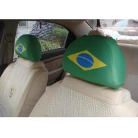 European Style Car Seat Headrest Covers Personalized For Soccer Fans Manufactures
