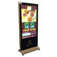 55 inch free standing gold LCD digital signage for restaurant Manufactures