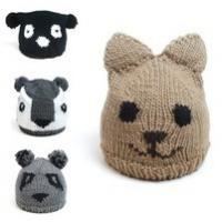 Wholesale high quality Cute animal patterns snow cap sloppy beanie hats with ears with ears for kids