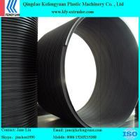 China hdpe plastic water drainage sewage steel reinforced winding pipe extruder making machine on sale