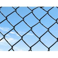 Stability Hot Dipped Galvanized Chain Link Fence Blue / Green 6 Foot Metal Fence Manufactures