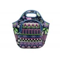 Small Kids Neoprene Lunch Bag, Front Zipper Pocket Insulated Lunch Tote Manufactures