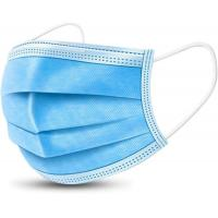 Ear Loop 3 Ply Disposable Non Woven Face Mask Blue And White Color Manufactures