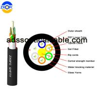 Aerial Duct Non Metallic Fiber Optic Cable GYFTY 48 Core Crush Resistance Manufactures