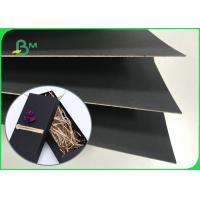 Recyclable Pulp 250gsm  - 800gsm One Side Black Paper Board For Calendar Manufactures