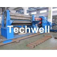 Galvanised Two Rollers Corrugated Roll Forming Machine 4 - 8mm with Panasonic PLC Control System Manufactures