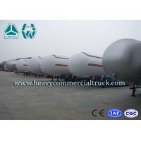 Heavy Duty Tank LPG Semi Trailer For Gas Delivery Reliable Structure