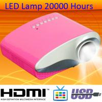 Glossy Panel HDMI MHL Projector Work With Smart Phone LED Lamp 20000 Hours On Sale Beamer Manufactures