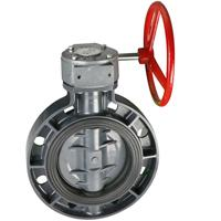 Worm actuated wafer type butterfly valve Manufactures