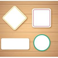 Self Adhesive Blank Sticker Labels , Customized Blank Mailing Address Labels Manufactures