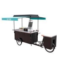 China Steel Frame Bicycle Food Cart , Electric Hot Food Cart CE Certification on sale
