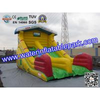 Yellow Super Fun Hire Inflatable Slide With family theme parks Manufactures