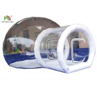 PVC Tarpaulin  Inflatable Camping Bubble Tent For Hotel 4 m Diameter Manufactures