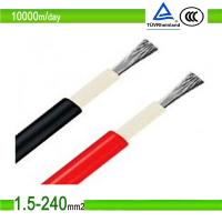 2.5mm2/4mm2/6mm2 black color double cores pv solar photovoltaic cable Manufactures