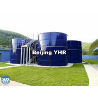 Blue Glass Lined Water Storage Tanks , Glass Coated Steel Tanks Easy Installation Manufactures