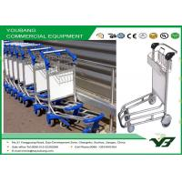 China Sliver Airport Luggage Trolley / airline baggage carts with wheels OEM , ODM on sale