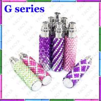 72mm x 14mm Ego E Cig Battery With C5 / Dct Atomizer , Diamond Bling Style Manufactures