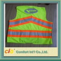Red / Green Road Security Reflective Safety Jacket Warning Vest Road Maintenance Worker Manufactures
