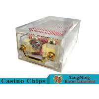 Cheap Acrylic Casino Card Shoe 8 DeckLarge Capacity With Bright Metal Lock for sale