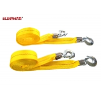 Industrial Heavy Duty Tow Straps Polyester Material TUV ISO Certificate Manufactures