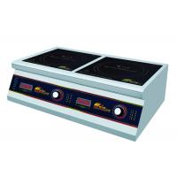 Cheap Commercial Two Burner Induction Cooktop , Durable Double Induction Cooker for sale