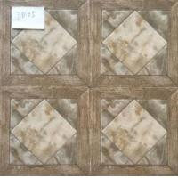 Glazed Ceramic Tiles 300x300mm Multicolor Ink-jet printing Low Water Absorption Glazed Rustic Tiles