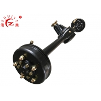 Buy cheap 3/4 Full Floating Trailer Differential Rear Axle With Mechanical Brake For 1t from wholesalers