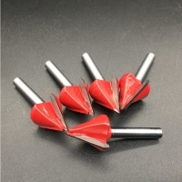 3D V- Type Carbide Milling Cutter Woodworking V Shape End Mill for Wood Cutters Manufactures