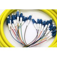Quality 24 Core Multi Fiber Break Out Cable LC/UPC-LC/UPC Strip on 0.9mm tight buffer for sale